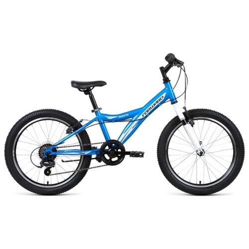 Подростковый горный (MTB) велосипед FORWARD Dakota 20 1.0 (2019) синий 10.5 (требует финальной сборки) подростковый горный mtb велосипед forward dakota 24 1 0 2020 черный 13 требует финальной сборки