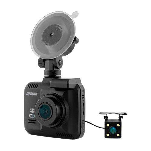 Видеорегистратор DIGMA FreeDrive 600-GW DUAL 4K, 2 камеры, GPS, черный