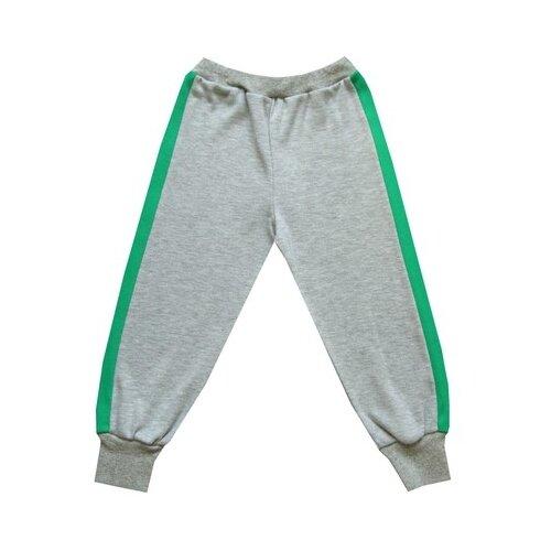 Брюки ПАНДА дети размер 98, серый/зеленыйБрюки<br>