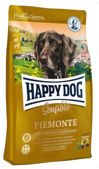 Корм для собак Happy Dog Supreme Sensible Piemonte для здоровья кожи и шерсти, утка, морская рыба с каштаном