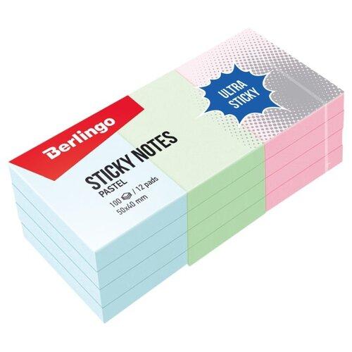 Купить Berlingo Самоклеящийся блок Ultra Sticky 5 x 4 см (LSn_39001), Бумага для заметок