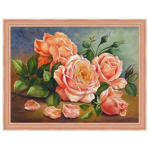 Купить Алмазная живопись Набор алмазной вышивки Ароматные розы (АЖ-1514) 40x30 см, Алмазная вышивка