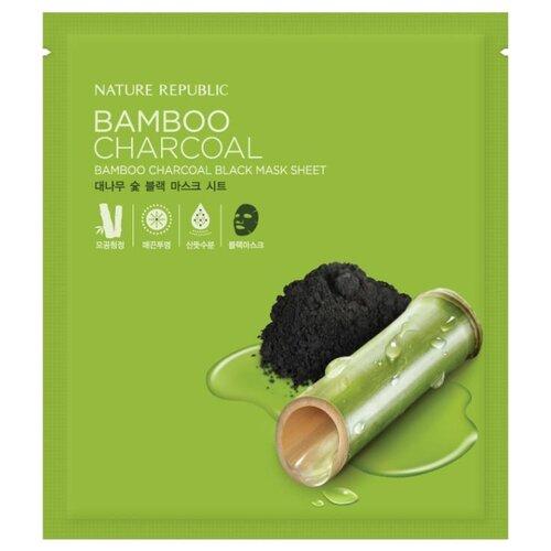 NATURE REPUBLIC тканевая маска Бамбук и древесный уголь, 27 млМаски<br>
