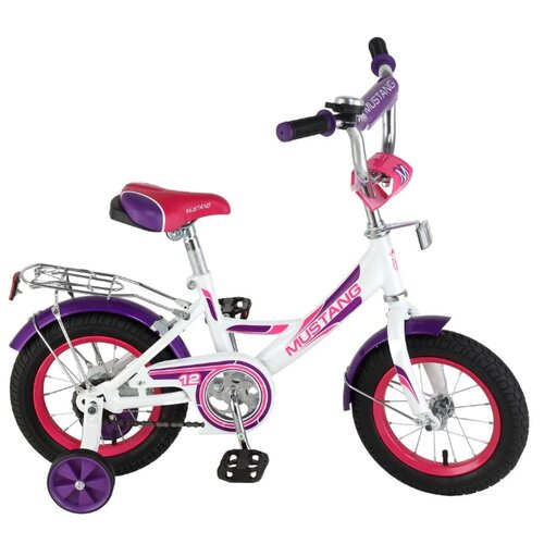 цена Детский велосипед MUSTANG ST12001-A белый-фиолетовый (требует финальной сборки) онлайн в 2017 году
