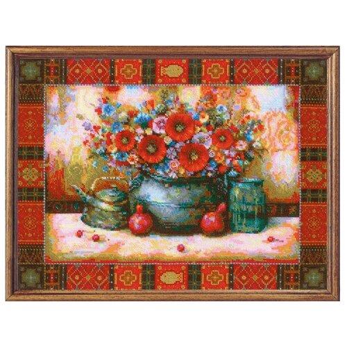 Купить Риолис Набор для вышивания крестом Натюрморт по мотивам картины Н. Джапаридзе 40 х 30 (1771), Наборы для вышивания
