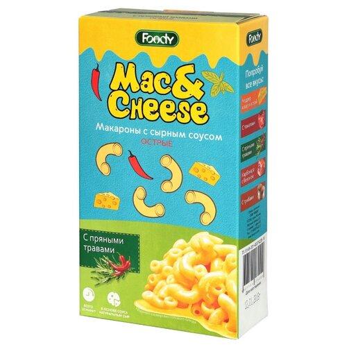 Foody Макароны Mac&Cheese острые с сырным соусом с пряными травами, 143 г пудовъ морковный хлеб с пряными травами 500 г