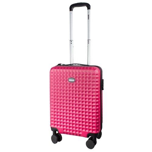 Фото - Чемодан PROFFI Tour Quattro Smart S 36 л, розовый чемодан proffi kingsize xl 110 л черный