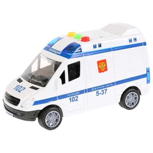 Купить Микроавтобус ТЕХНОПАРК Полиция (1630072-R) 15.5 см белый, Машинки и техника