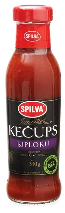 Кетчуп Spilva Чесночный, стеклянная бутылка