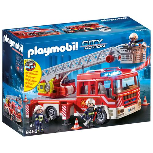 цена на Набор с элементами конструктора Playmobil City Action 9463 Пожарная служба: Пожарная Лестница