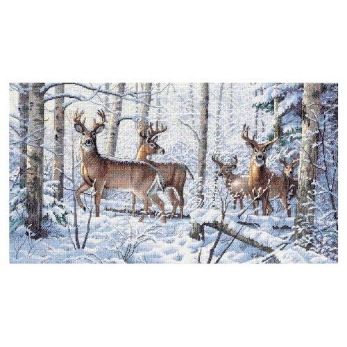 Купить Dimensions Набор для вышивания крестиком Зима в лесу 46 х 25 см (35130), Наборы для вышивания