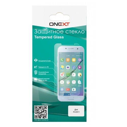 Защитное стекло ONEXT для Alcatel 3 прозрачный защитное стекло onext для iphone 7