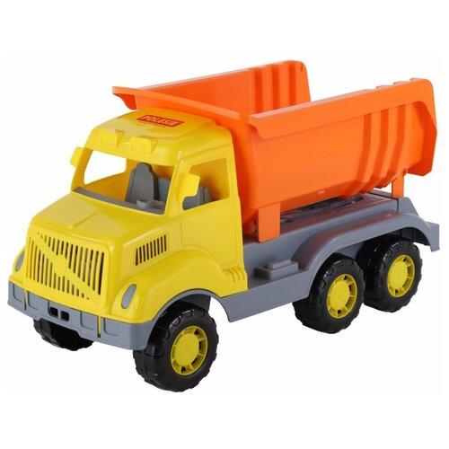 Купить Грузовик Полесье Богатырь (37336) 58.5 см оранжевый/желтый/серый, Машинки и техника