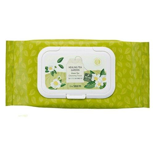 The Saem салфетки очищающие с экстрактом зеленого чая Healing Tea Garden, 60 шт.