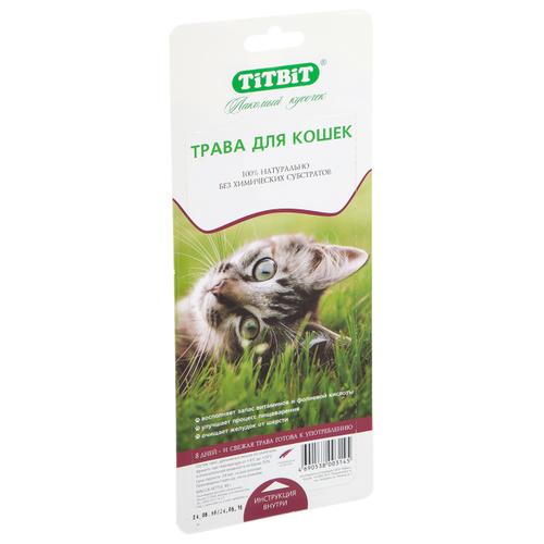 Лакомство для кошек Titbit Трава Овес, 40 г