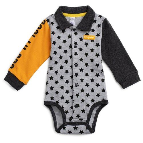 Боди playToday размер 68, серый/темно-серый/желтыйБоди<br>