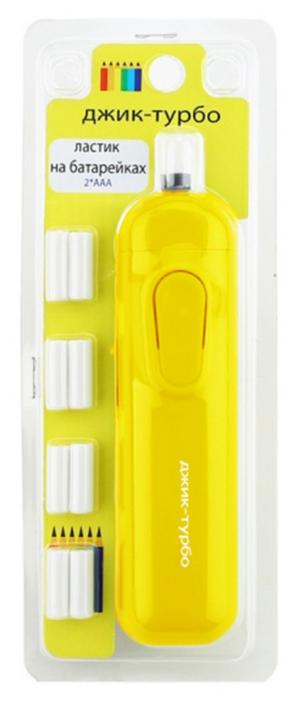 Джик-Турбо Ластик на батарейках ЛА желтый