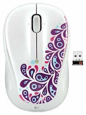 Мышь Logitech Wireless Mouse M325 White Paisley White USB
