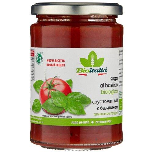 Соус Bioitalia Томатный с базиликом, 350 г unidan соус томатный с хреном 500 г