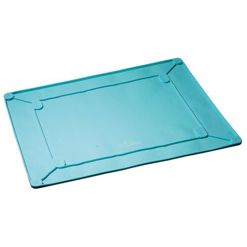 Туалет для собак V.I.Pet С бортиками силиконовый 60х45 см голубой бирюзовый