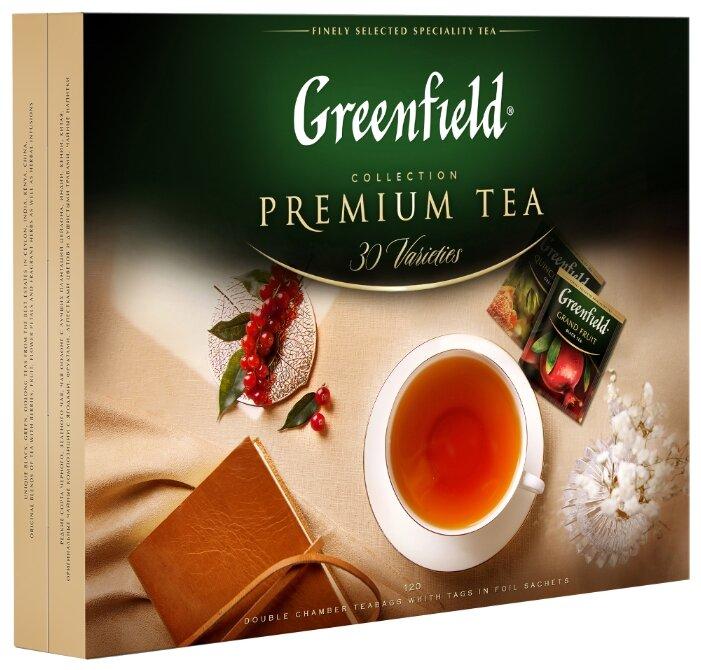 Чай Greenfield Selection of 30 Greenfield varieties ассорти в пакетиках подарочный набор, 120 шт.