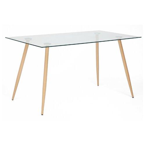 Стол кухонный TetChair Sophia, ДхШ: 140 х 80 см, бук/прозрачный