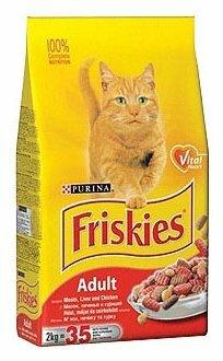 Корм для кошек Friskies для профилактики МКБ, с курицей, с печенью