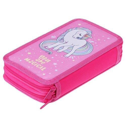 Купить ArtSpace Пенал Волшебный единорог (ПТ2_29116) розовый, Пеналы
