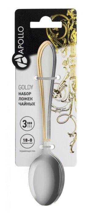 Apollo Набор чайных ложек Goldy 3 предмета
