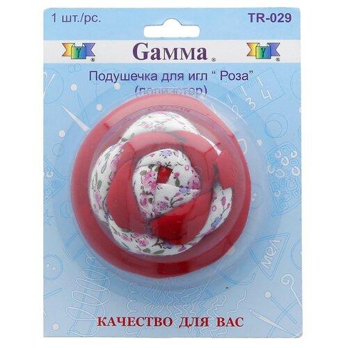 Игольница Gamma TR-029 Роза, красный/белый/розовый tr 410 роза