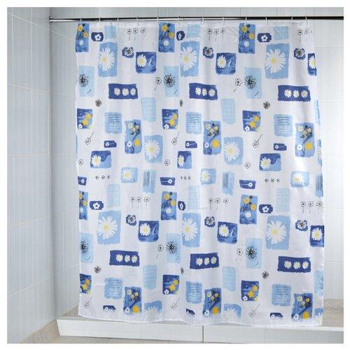 Штора для ванной Aquarius Ромашки 180х200 голубойШторы и карнизы<br>
