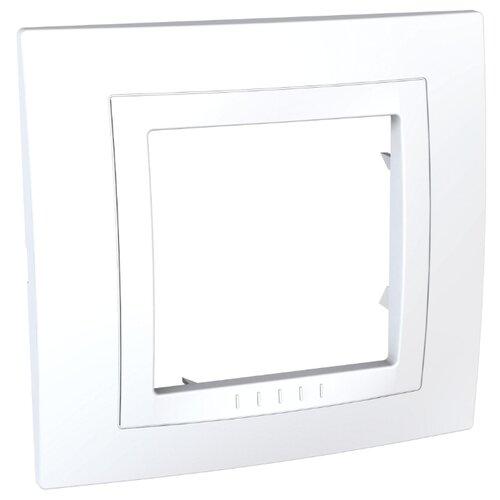 Рамка 1п Schneider ElectricMGU2.002.18M UNICA, белый
