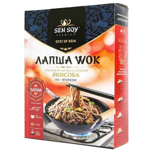 Лапша Sen Soy Wok гречневая с соусом якисоба по-японски 235 г sen soy premium лапша рисовая с соусом pad thai и кунжутом 235 г