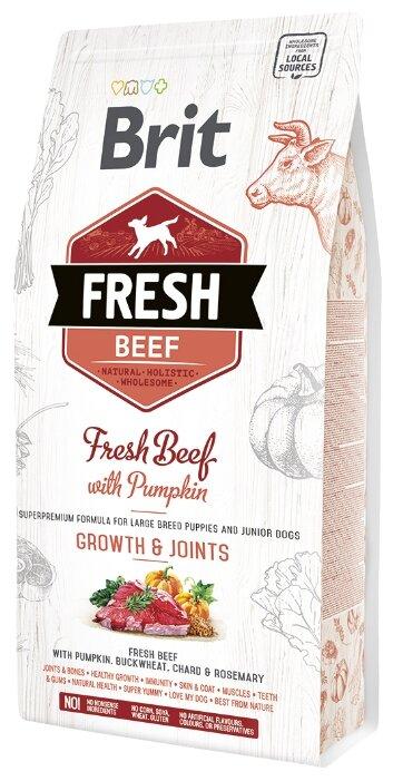 Корм для щенков Brit Fresh говядина с тыквой (для крупных пород)