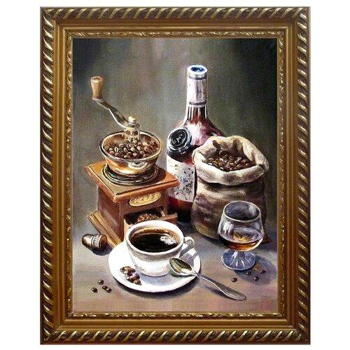 Алмазная живопись Набор алмазной вышивки Кофейный набор (АЖ-1434) 30x40 см набор для изготовления картины со стразами алмазная живопись красный тюльпан 15 х 15 см page 9