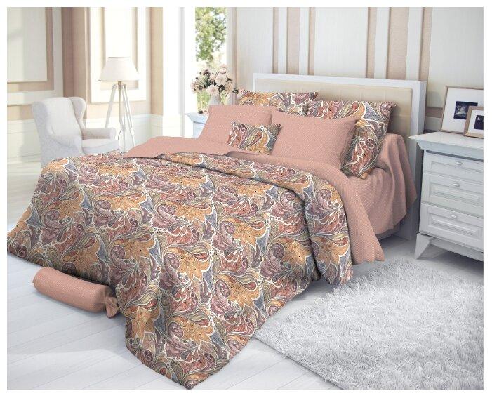 Евро комплект постельного белья VEROSSA Сатин Nikea с наволочками 50*70 и 70*70