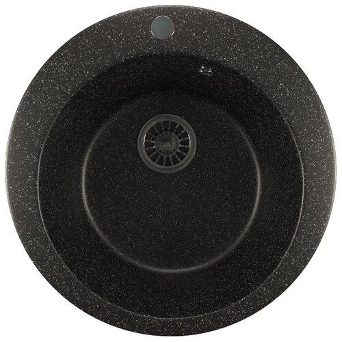 Врезная кухонная мойка 49.5 см Mixline ML-GM13 черная 308 кухонная мойка rossinka rs48 49s черная