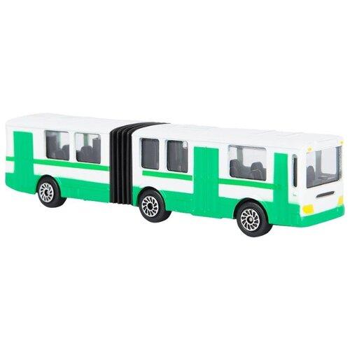 Автобус ТЕХНОПАРК с гармошкой (SB-15-34-B) 12 см белый/зеленый технопарк автобус технопарк аэропорт 18 5 см