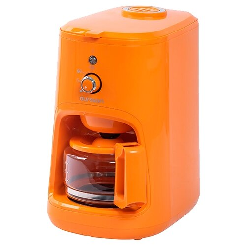 Фото - Кофеварка Oursson CM0400G, оранжевый кофеварка oursson cm0400g оранжевый
