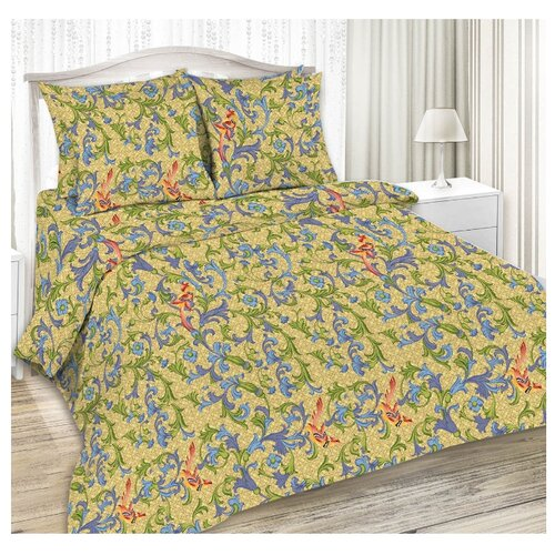 Постельное белье 1.5-спальное Текстильная лавка Бурже сатин, 70 х 70 см