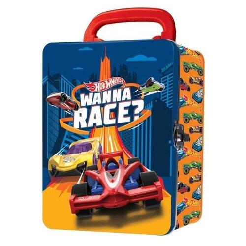 Кейс Mattel Hot Wheels для хранения 18 машинок оранжевый mattel набор машинок hot wheels юбилейный выпуск 5 штук