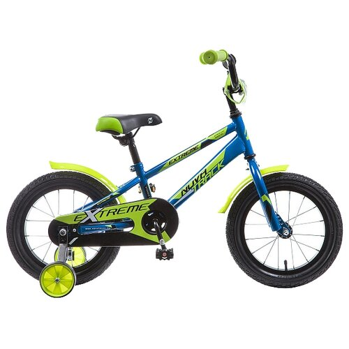 Детский велосипед Novatrack Extreme 14 (2019) синий (требует финальной сборки) novatrack extreme 24 черный