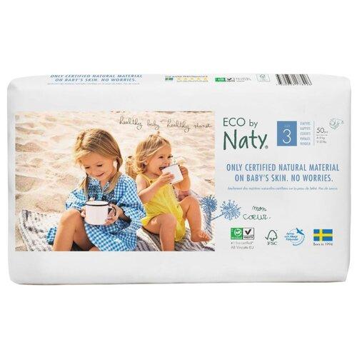 Купить Naty подгузники Eco 3 (4-9 кг) 50 шт., Подгузники