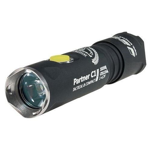 Тактический фонарь ArmyTek Partner C1 Pro v3 XP-L (белый свет) черный ручной фонарь armytek prime c1 pro v3 xp l белый свет черный