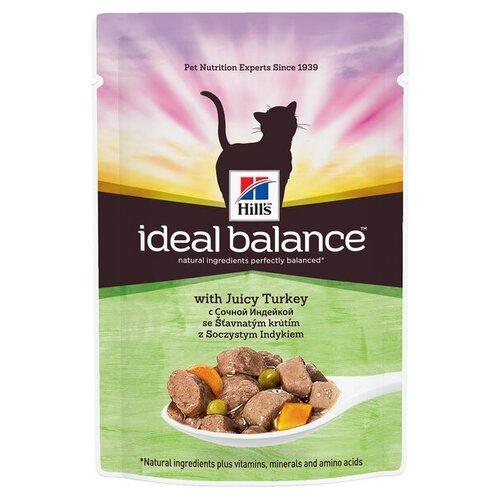 Корм для кошек Hills Ideal Balance Feline Adult with Juicy Turkey Pouch 1 шт. (0.085 кг)Корма для кошек<br>