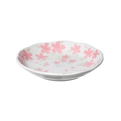 KAKUNI Тарелка Вишневый бутон 13.5 см белый/розовый
