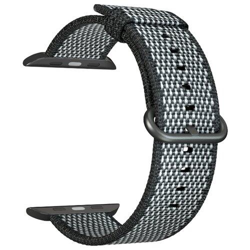 Нейлоновый ремешок для Apple Watch 38/40 mm LYAMBDA POLIS DSN-02-03A-40-BK Black ремешок для часов lyambda для apple watch 38 40 mm polis dsn 02 02a 40 rd red