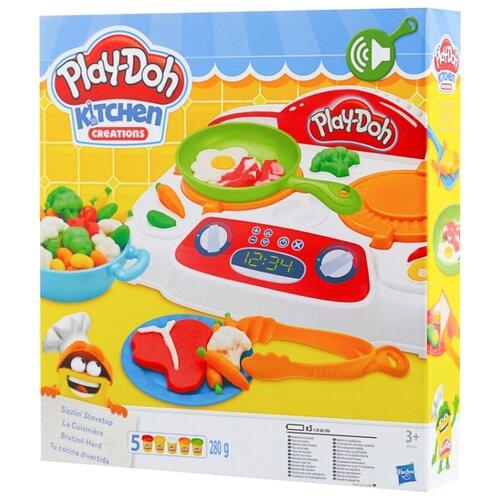Купить Масса для лепки Play-Doh Kitchen Creation Кухонная плита (B9014), Пластилин и масса для лепки