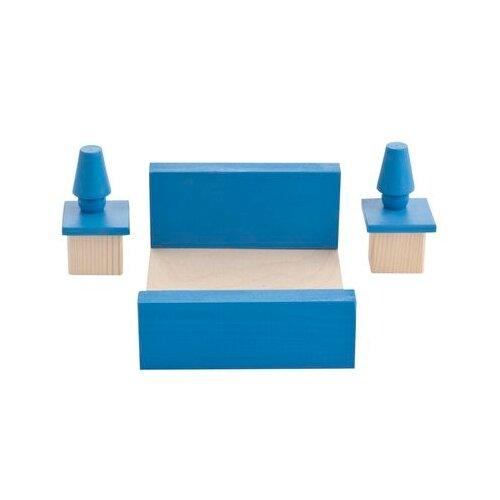 PAREMO Набор мебели для спальни для мини-кукол (PDA517) синий/бежевый