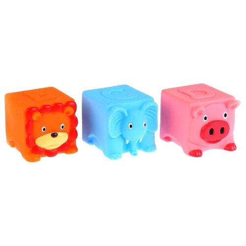 Фото - Набор для ванной Играем вместе 3 кубика (LNX29-30-31) оранжевый/голубой/розовый набор для ванной играем вместе котенок гав и щенок 136r pvc белый оранжевый